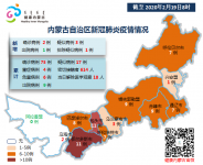 2020年2月18日9时至19日8时内蒙古自治区新冠肺炎疫情情况